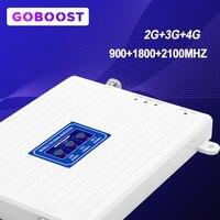 LTE 2G 3G 4G wzmacniacz sygnału telefonu TriBand 900 1800 2100 wzmacniacz GSM komunikacja internetowa wzmacniacz sygnału komórkowego * w Wzmacniacze sygnału od Telefony komórkowe i telekomunikacja na