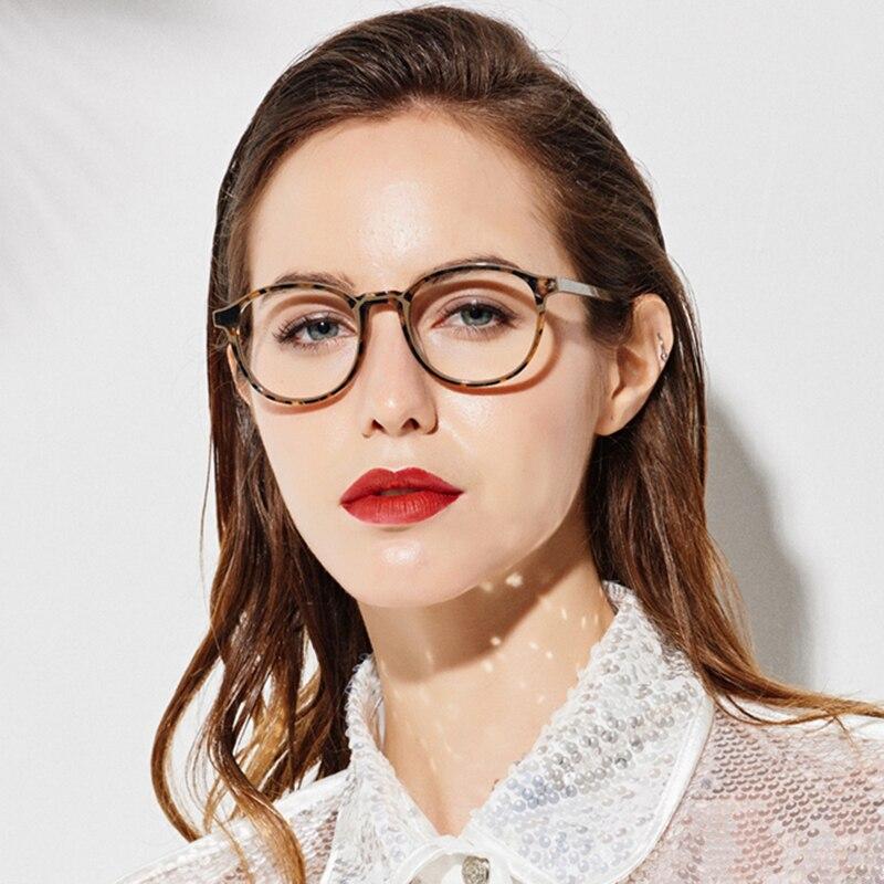 SASAMIA Round Retro Eyeglass Frames Women Acetate Circle Glasses Without Lens Decorative Eyeglasses Optical Frame For Women