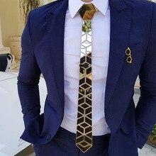 Bling Blue Neckties Floral Pattern Mirror Skinny Ties Luxury Fashion Accessories Wedding Groom Necktie Blue Causal Style