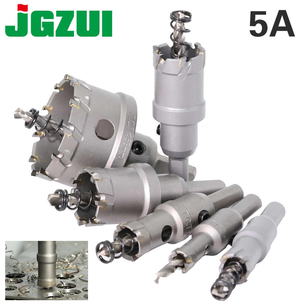 1 pc 5A Carbide Tip TCT Drill Bit Hole Saw 12-150mm Drill Bit Set Hole Saw Cutter For Stainless Steel Metal Alloy Drilling 7