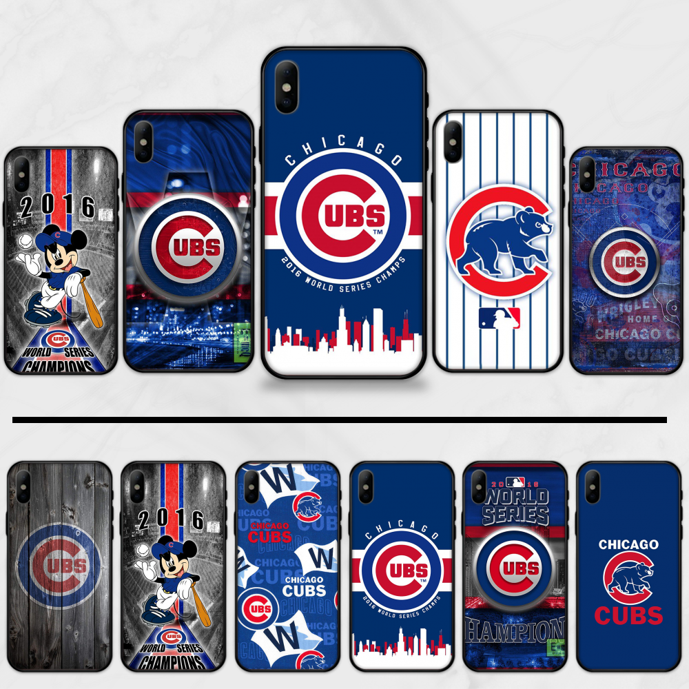 Chicago Cubs Baseball Patroon Tpu Zachte Siliconen Phone Case Cover Voor Iphone 5 5S Se 5C 6 6S 7 8 plus X Xs Xr 11 Pro Max