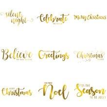 Merry Christmas Set Artistic Greetings Words Noel Season Popular Hot Foil Plates for Scrapbooking DIY Paper Cards Craft New 2019