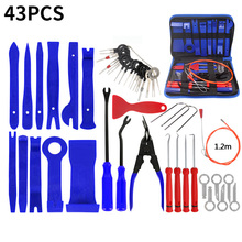 43pcs Auto Car Blue Dashboard Audio Stereo GPS Trim & Disassembly Installation Tool Kit set Accessories