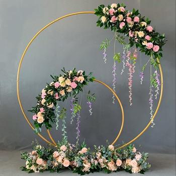 Iron Circle Wedding Arch Props Background Single Arch Flower Outdoor Lawn Wedding Flower Door Rack Wedding Birthday Decoration