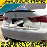 Para lexus is is250 is300 is350 2007-13 é f 2013-14 de fibra de carbono traseiro boot asa spoiler traseiro telhado spoiler asa