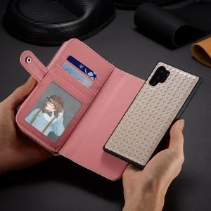 Image 4 - Zipper Wallet Case for Samsung Galaxy Note 10 Plus S10 S9 S8 Plus S10E Note 9 8 Leather Protective Magnetic Detachable Flip Case