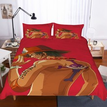 Dropshopping Anime Bedding Set 2/3pcs One Piece Cartoon Kids Microfiber Full Duvet Cover Naruto Bed Linen Pillowcase