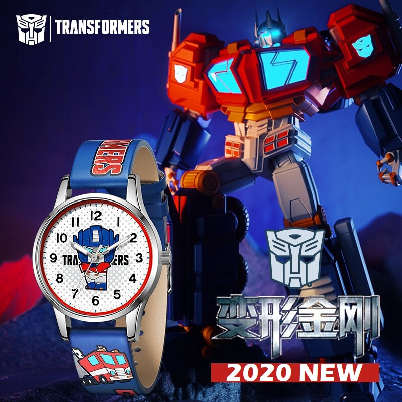 TRANSFORMERS Original Children Optimus Prime BUMBLEBEE Megatron Ironhide Jazz Cartoon Japan Quartz Wrist Watches Luminous Hands