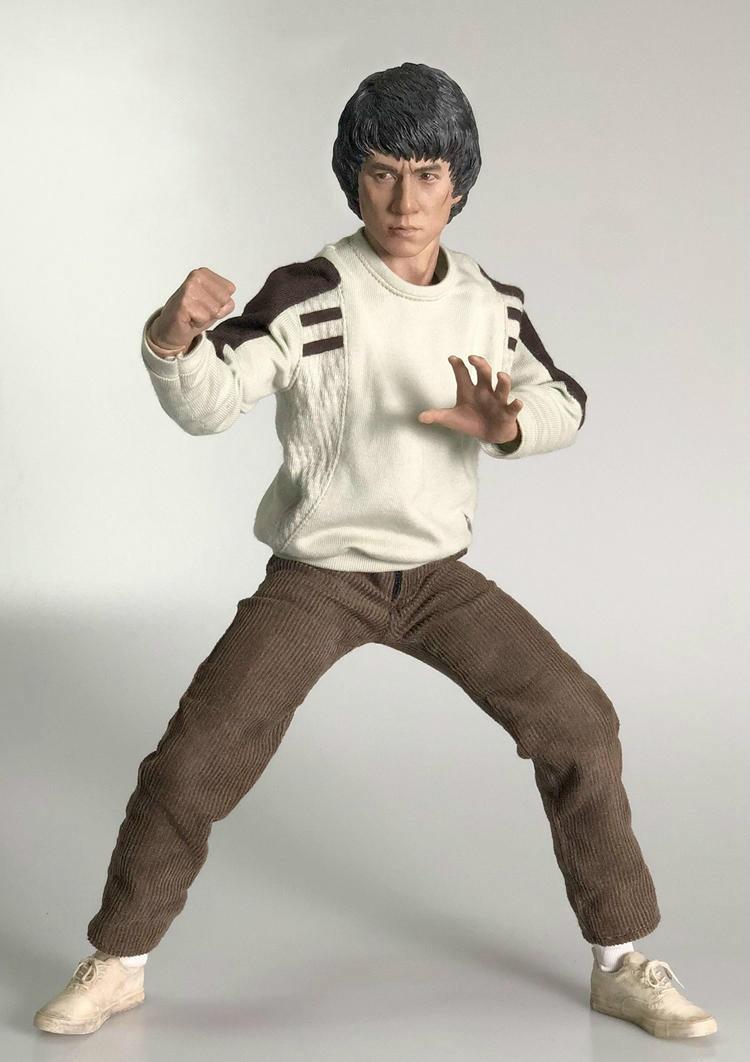 HOT FIGURE TOYS ThreeQ 1//6 Kung fu star  Jackie chan asians headplay Custom