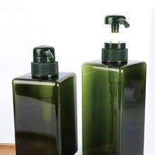 450ML Large-capacity Square Lotion Shampoo Bottle Four-way Liquid Wash Water Empty Pump Bottles Bathroom Supplies 1PCS