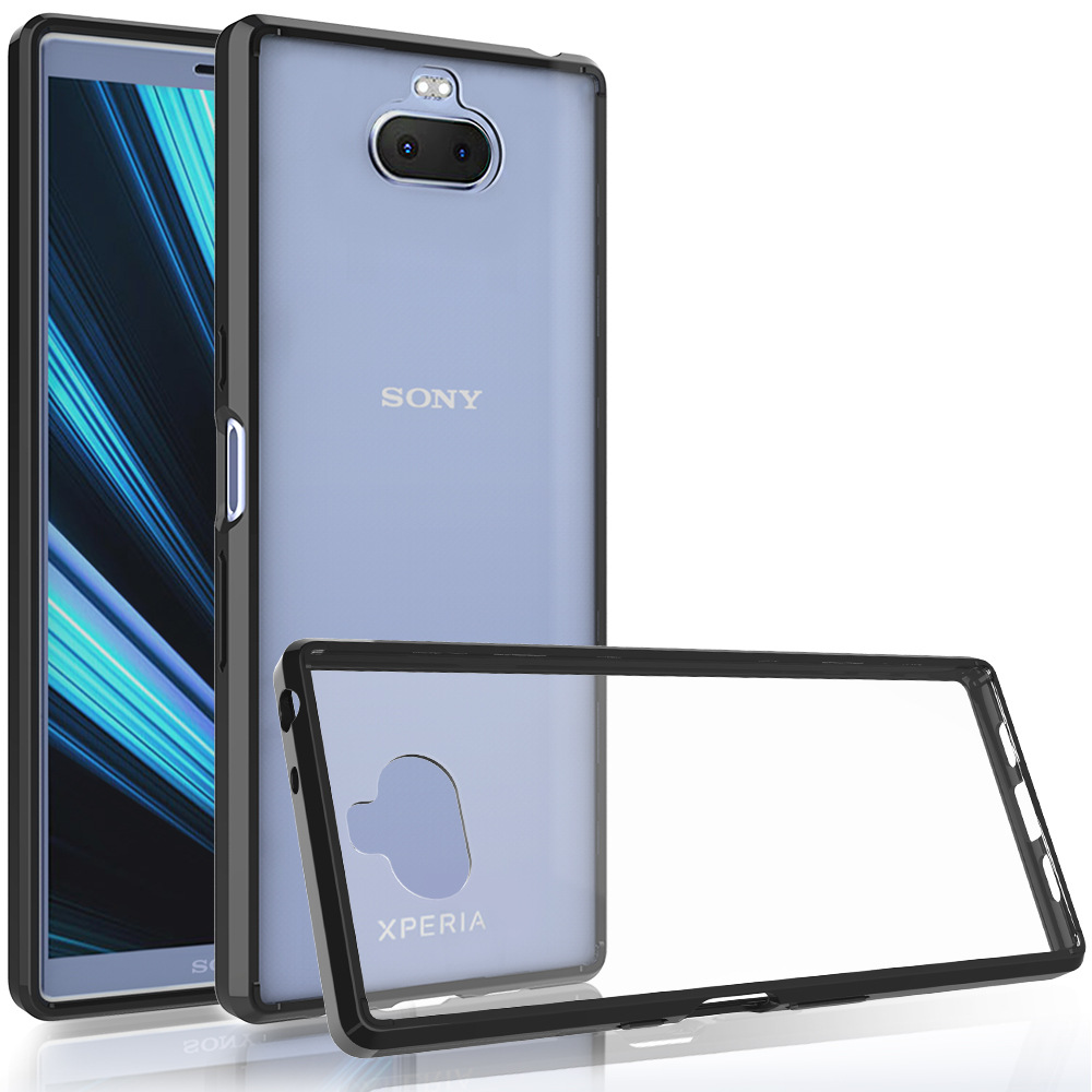 Cover <font><b>Case</b></font> for <font><b>Sony</b></font> Xperia 10 Plus Silicone Bumper Shockproof Hard Clear Back Phone <font><b>Case</b></font> <font><b>Sony</b></font> Xperia 10 <font><b>Xperia10</b></font> image