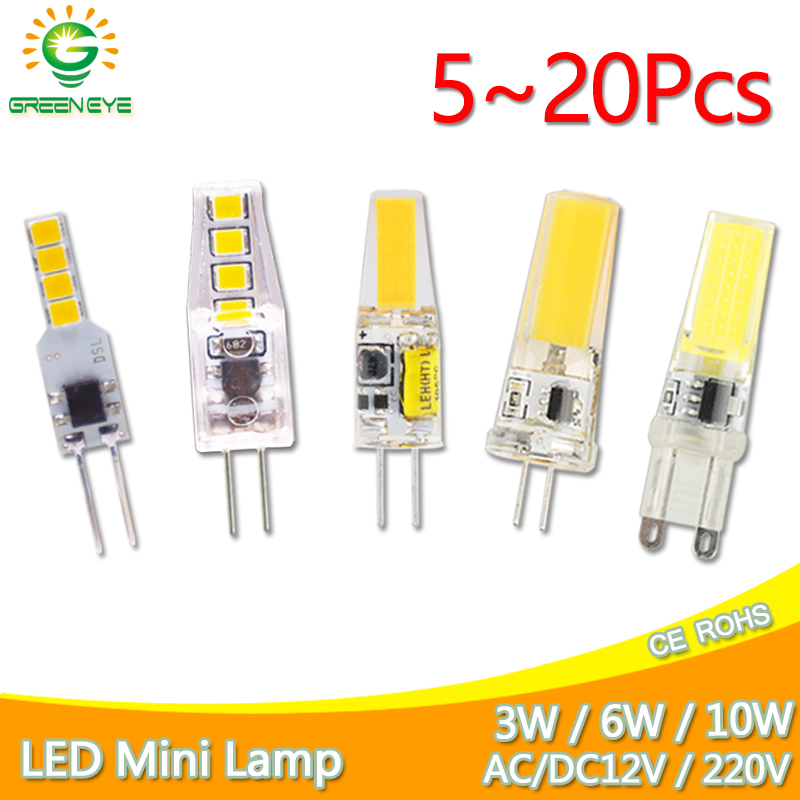 led g4 lamp g9 led bulb 12V 220V Dimmable led bulb SMD 3W 6W 9w g9 g4 led COB LED Lighting replace Halogen Spotlight Chandelier