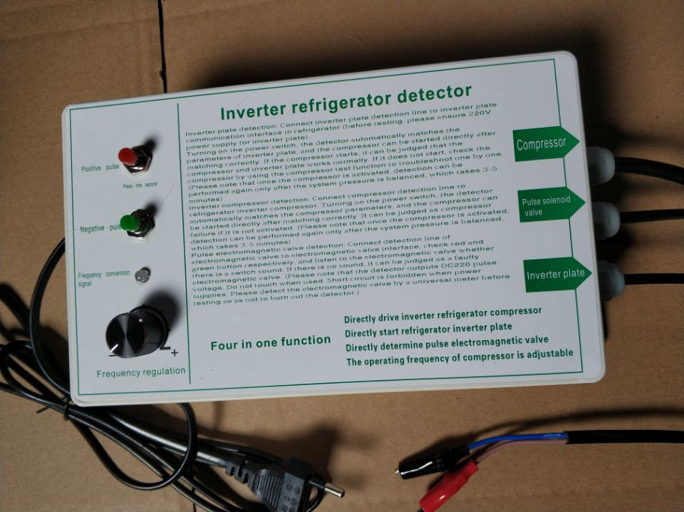 Versão inglês inversor geladeira compressor detector testador ferramenta de reparo geladeira pulso detecção válvula solenóide