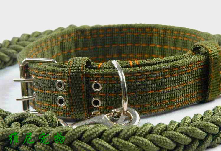 Large Dog Leash Collar Suit Dog Chain Golden Retriever Labrador Medium and Large Dog Rope Alaska Dog Leash  Dog Chain  Dog Tag