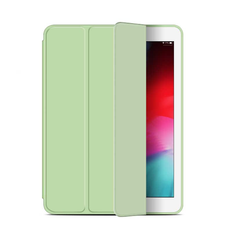 حافظة لجهاز iPad Mini 4 3 2 1 حافظة من جلد البولي يوريثان سيليكون ناعم من الخلف ثلاثي الطي حافظة لجهاز iPad Mini 2 5 2019 Funda