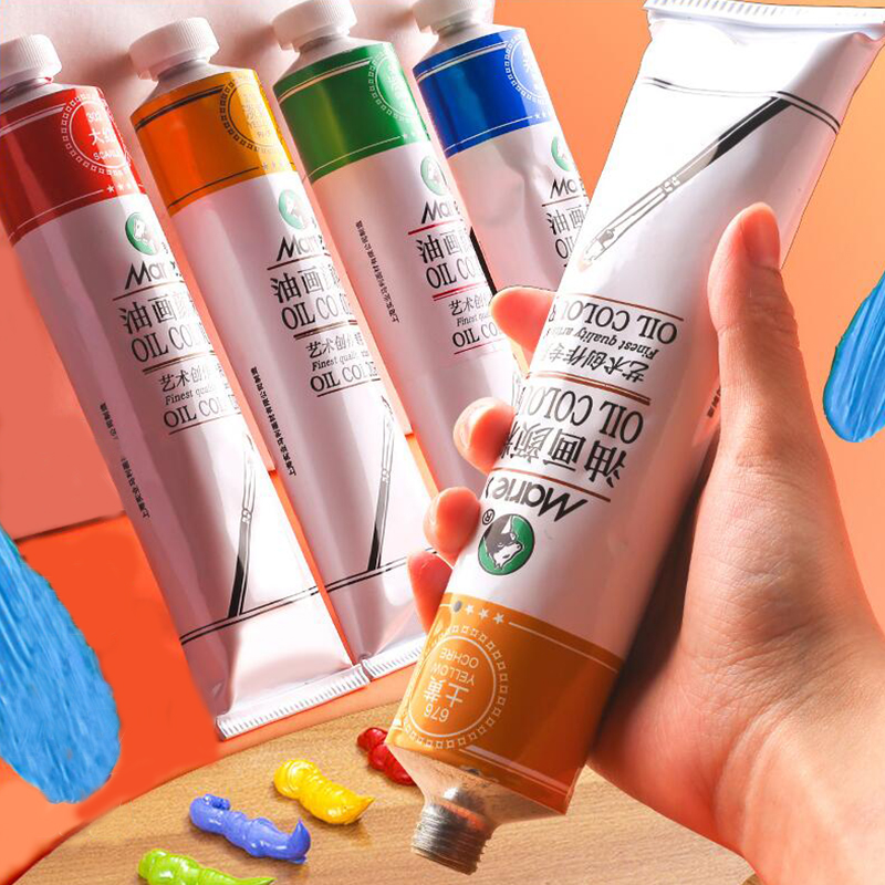 170ml Professional Oil Painting Color Pigment Oil Paints Art Paint Supplies Artist Painting Drawing Material Tools