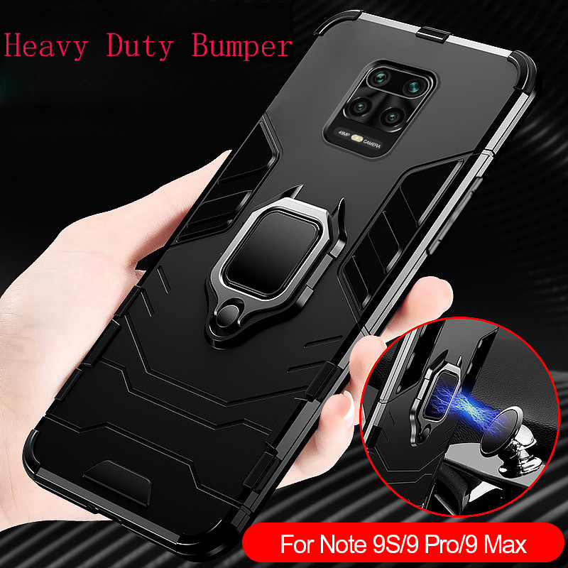 Shockproof <font><b>Case</b></font> For Xiaomi Redmi <font><b>Note</b></font> 9S 8T <font><b>Case</b></font> Soft Armor Magnetic Holder Cover For Redmi <font><b>Note</b></font> <font><b>9</b></font> Pro Max 7 8 6 Pro <font><b>9</b></font> S Bumper image