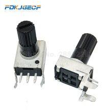 10 pces x rv09 horizontal 12.5mm eixo 5k 10k 50k 100k 0932 ajustável resistor 9 tipo 3pin selo potenciômetro
