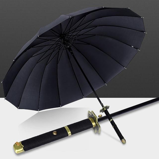 One Piece Roronoa Zoro Automatic Katana Umbrella Creative Rain Women Men Samurai Sword Ninja Knife Umbrella Windproof Parasol 3