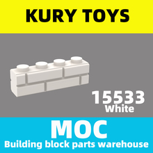 Kury Toys DIY MOC For 15533 Building block parts For Brick, Modified 1 x 4 with Groove