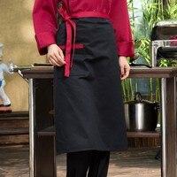 Fartuch kucharski w połowie długości Hotel odzież robocza do restauracji pół długości fartuch śniadanie kuchnia piekarnia mężczyźni i kobiety biały w Zarękawki od Dom i ogród na