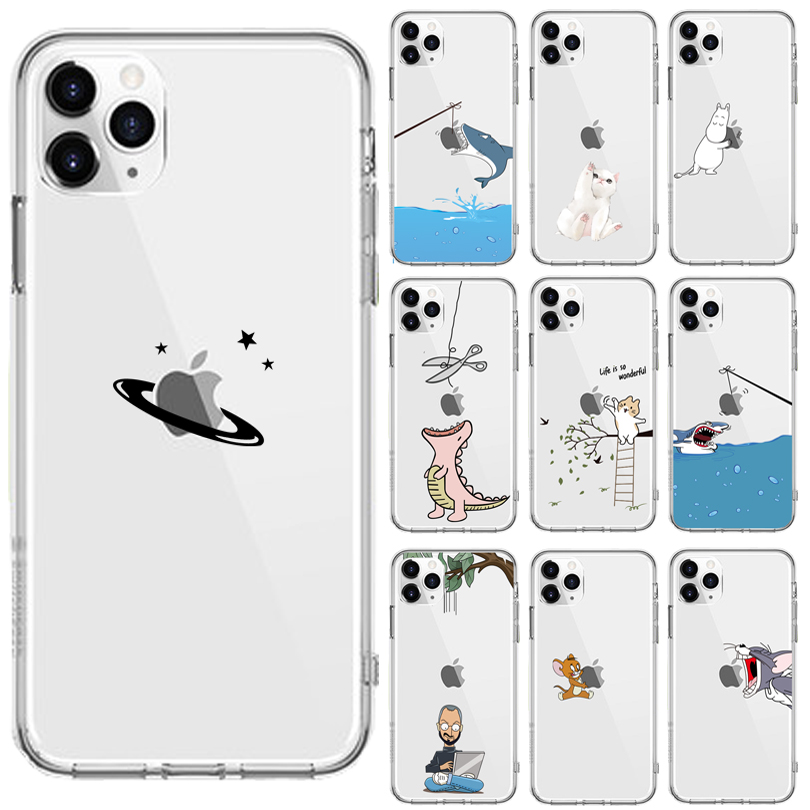 Pink Cute Elephant Soft TPU Phone Case For Apple IPhone X XS Max XR Case Eat For IPhone 8 7 6S Plus 5S SE 11Pro Cases Coque Capa