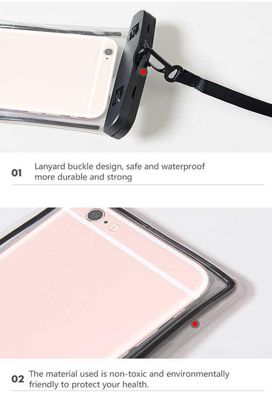Ocolor pour sac étanche FishSunDay pochette étanche universelle pour téléphones portables sac pour natation plongée Sports nautiques coque de téléphone sac