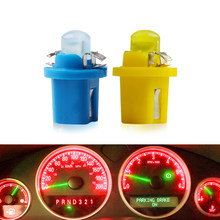 1 Pcs T5 B8.5D 509T B8.5 Smd Led Lamp Car Gauge Speedo Dash Bulb Auto Dashboard Instrument Light Blue Red Green White Yellow