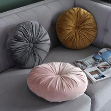 Seat Cushion Bed-Pillow Velvet-Fabric Home-Decoration European Round Solid