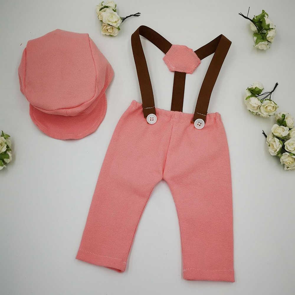 Non Judy 2019 Nuovo Abiti Pantaloni e Cappello Set Accessori per la Fotografia Neonato Puntelli Plaid Costume Infantile Signore Set