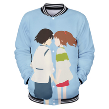 New 3D Spirited Away  jacket Hoodies Baseball uniform Men/Women Fall Winter Harajuku men women Sweatshirt