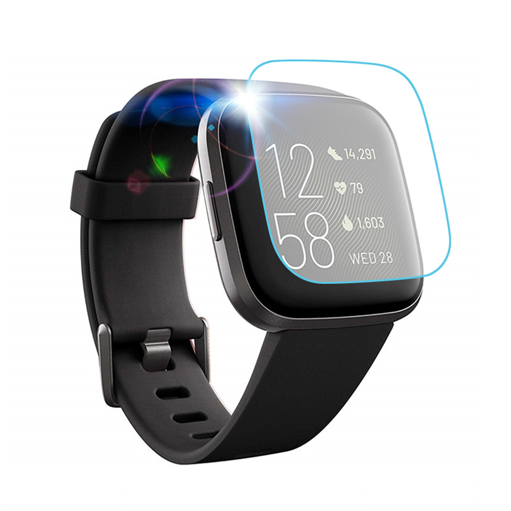 1pc /3pcs /5pcs Clear Film Tempered Glass Screen Protector For Fitbit Versa 2 Smart Watch New Arrived