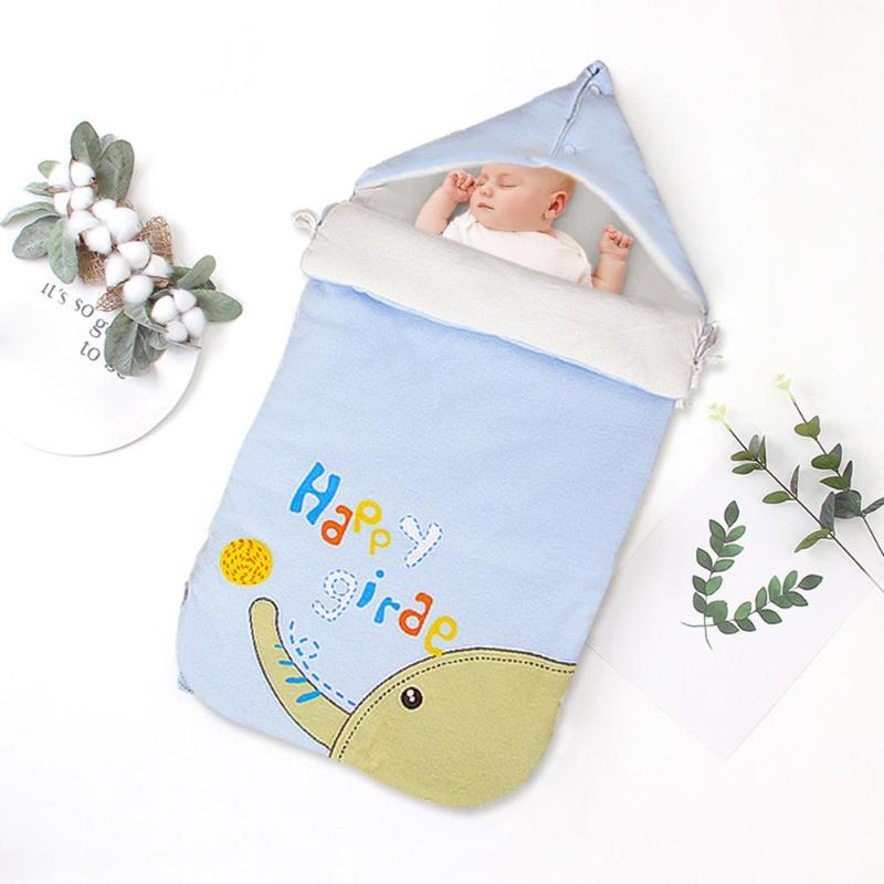 Windproof Envelopes Infant Baby Sleep Sacks All Cotton Fabric Fine And Comfortable Winter Blanket For Newborns Warmer