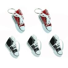 JAER 5PCS Motorbike Side Kickstand Stand Plate Mini shoes Keychain Motocross Foot Support Shoe Key Chain