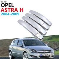 Luksusowa chromowana pokrywa klamki zestaw wykończeniowy dla Opel Astra H 2004 ~ 2009 Vauxhall Holden Family akcesoria samochodowe naklejki 2008 2007 2006 w Naklejki samochodowe od Samochody i motocykle na