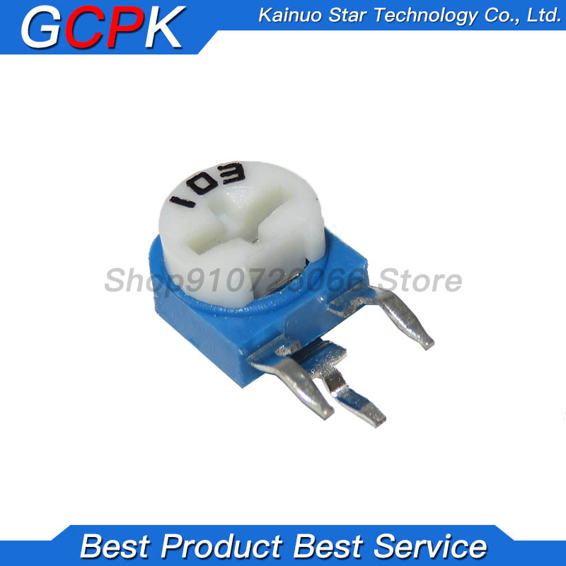 20 piezas RM063 RM-063 100, 200, 500, 1K 2K 5K 10K 20K 50K 100K 200K 500K 1M ohm Trimpot Trimmer potenciómetro de resistencia variable