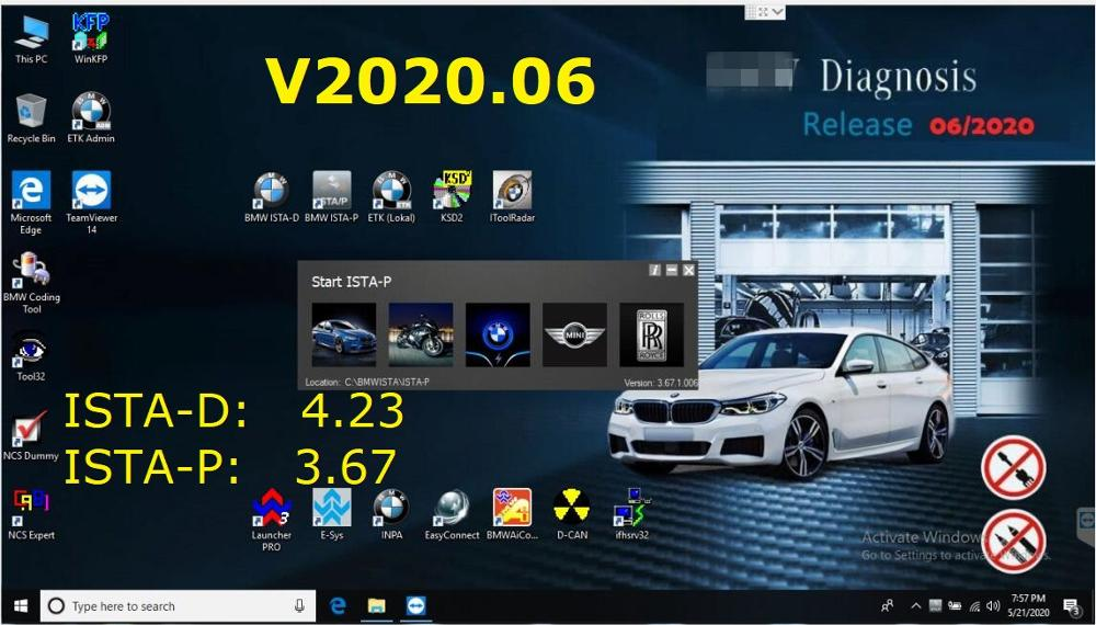 2020.06 ISTA/D 4.23 ISTA/P 3.67 For <font><b>BMW</b></font> ICOM Software HDD/SSD Multi-language With Engineers Programming windows 7 free shipping image