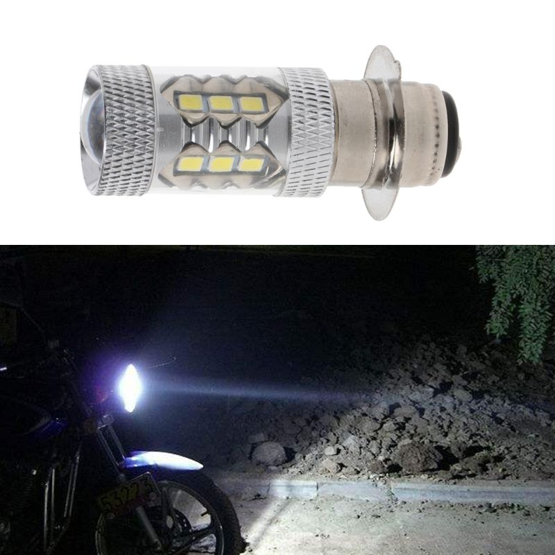 PX15D H6 80W 6500K <font><b>16</b></font> <font><b>LED</b></font> White Headlight <font><b>Fog</b></font> Light Driving Bulb <font><b>Lamp</b></font> For Motorcycle Bicycle Bike G6KC image