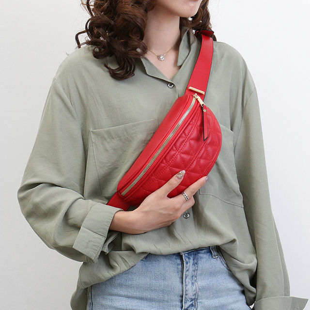 PU Leather Fanny Packs for Women Solid Color Small Summer Fashion Waist Packs Female Phone Purses Ladies Chest Bags Mini Bag 4