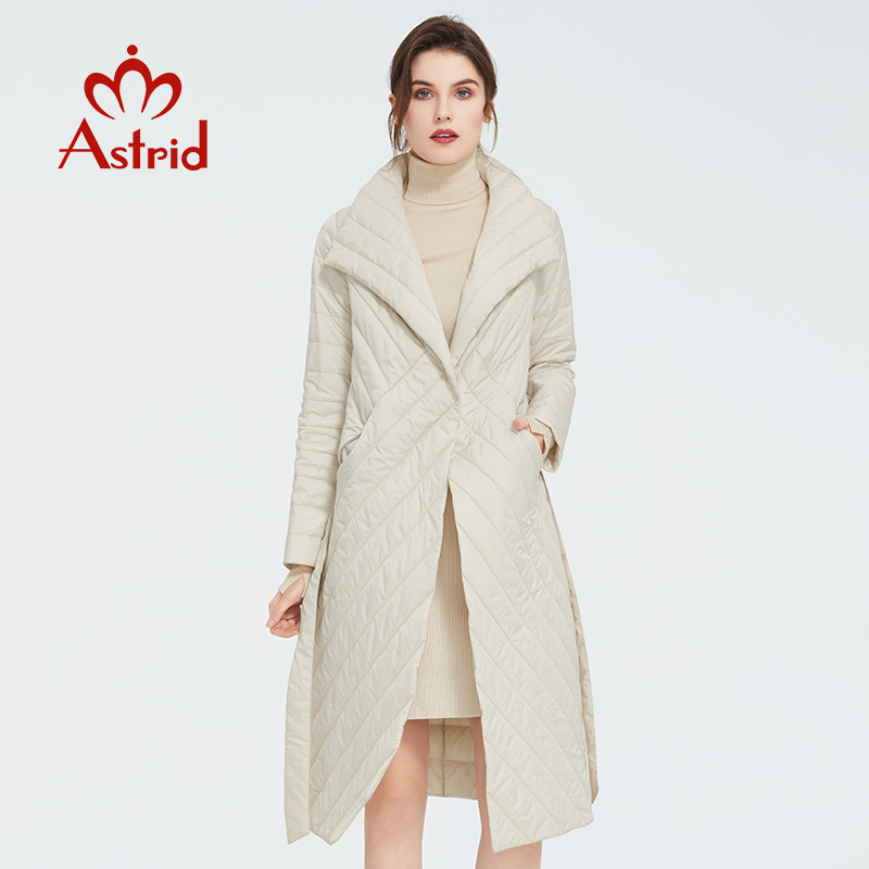 Astrid 2020 New Arrival Spring Classic Style Length Women Coat Warm Cotton Jacket Fashion Parka High Quality Outwear ZM-7091