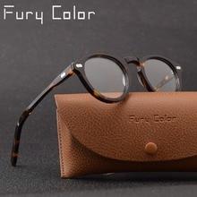 Round retro Small Acetate frame optical eyeglasses frame clear lens glasses frame women men myopia spectacles prescription