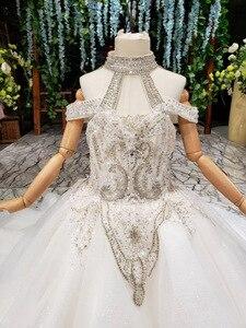 Image 5 - 2019 nouveau Bling Bling fleur fille Dresse pour fête de mariage filles Pageant robes cristlas première Communion robes pour petite fille