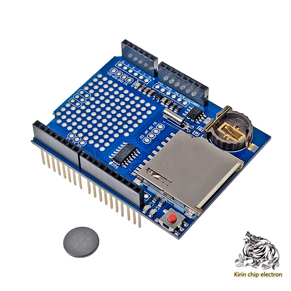 5 PCS / LOT XD -204 Data Logger Data Logging Shield Blue.
