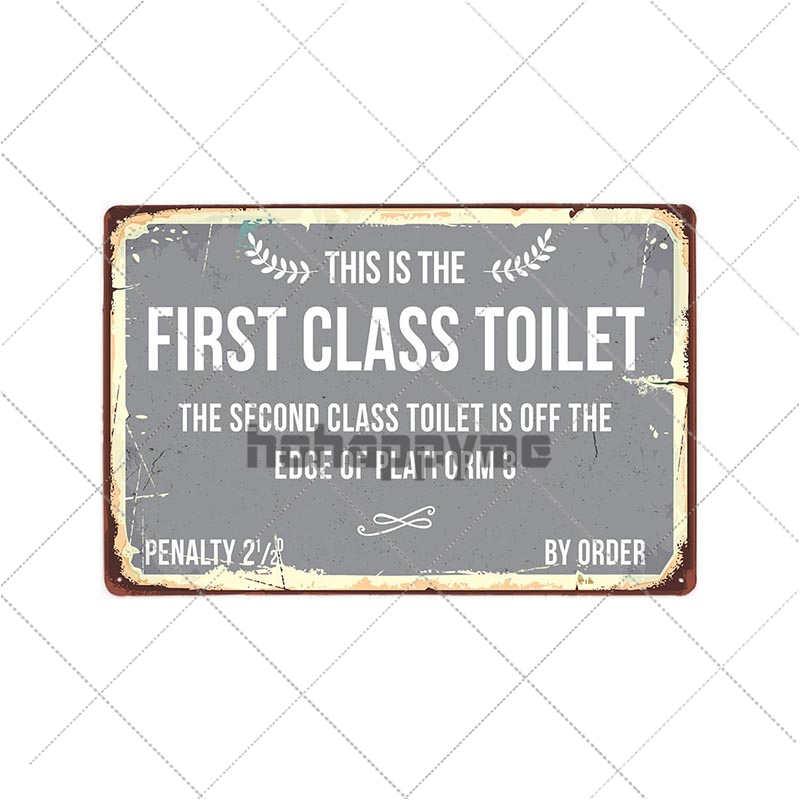 toilet tin signs vintage metal toilettes plaque wc poster bar pub restroom bathroom decoration retro plate 20 30cm