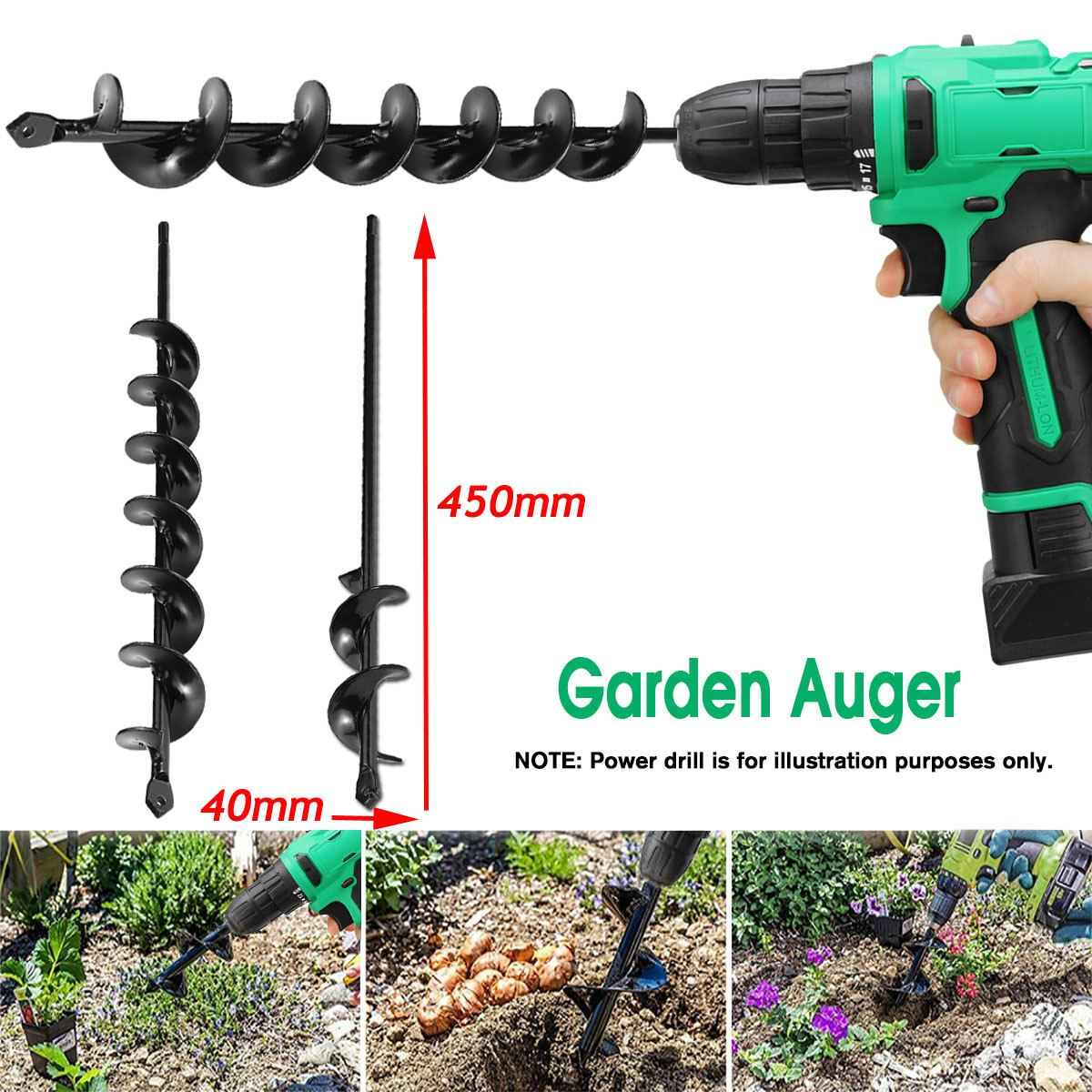 Garden Planting Machine Drill Bit 450*40mm Earth Auger Hole Digger Tool Fence Borer Post Post Hole Digger Garden Auger Yard Tool