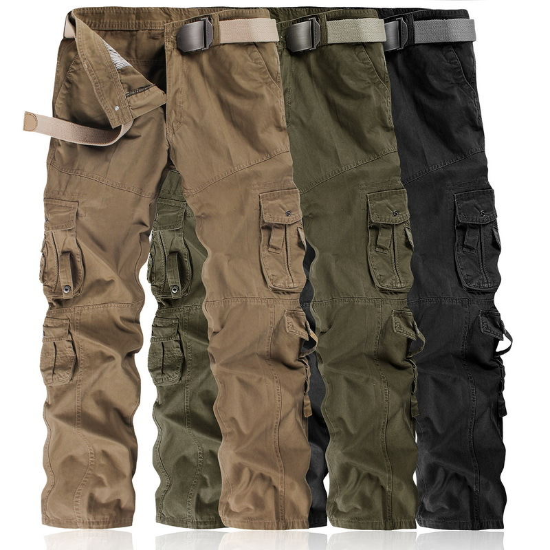 Multi-pockets Men's Workwear Casual Pants Pure Cotton Outdoor Casual Bib Overall Men Cargo Pants