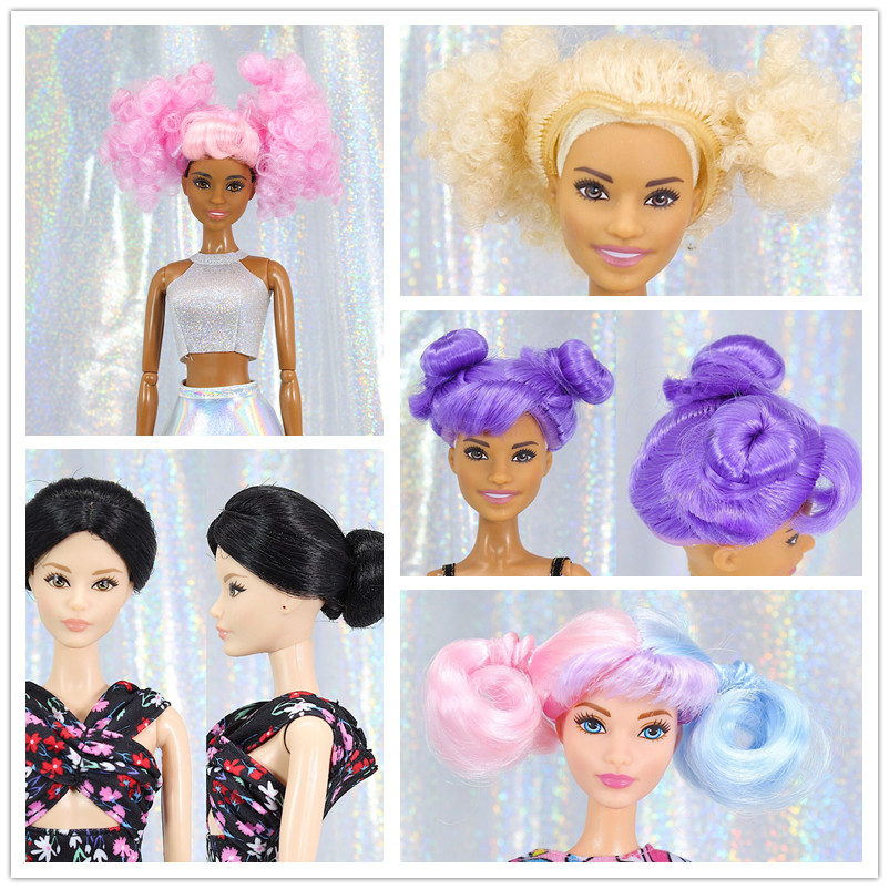 Candy Colors Wig  / Short Hair / Doll Accessories DIY For 1/6 FR ST Barbie Bald Head
