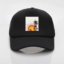 Latest model Wind and Sun Surf Seagull Beach Printing net cap baseball Men women Summer Trend Cap Visor hat