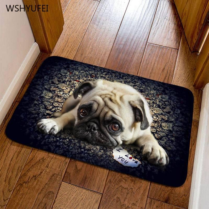 Three Dimensional Animal Dog Door Mat