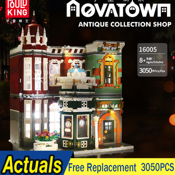 MOC City Creator Street Collection Shop Street View Model LED Building Blocks Bricks Education Compatible Lepin Creator Expert lepin 17007 lepin creator architecture the robie house set legoing 21010 legoing creator architecture building block bricks toys
